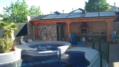 Paneles solares piscinas madrid instalaci n calentadores for Calentar agua piscina